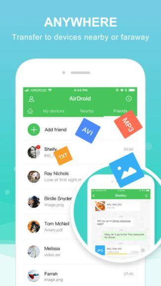 AirDroid na iOS (screen)