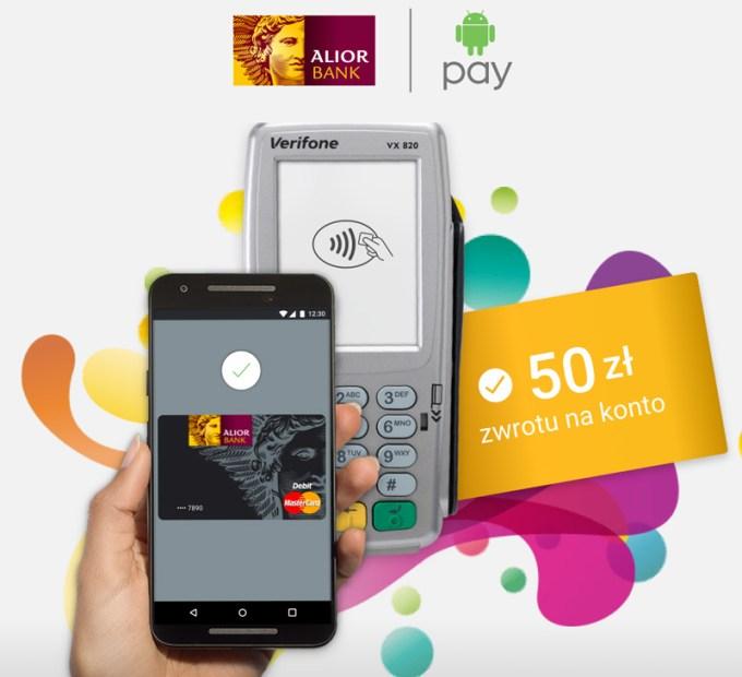 Konkurs TAPnij KASĘ Alior Banku w aplikacji mobilnej Android Pay