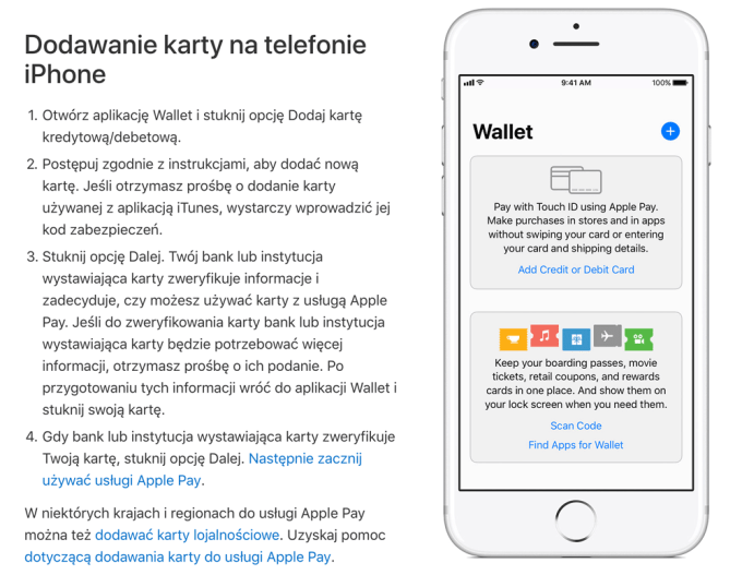 Dodawanie karty do usługi Apple Pay na iPhone'ie (polska instrukcja)