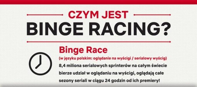 Czym jest binge racing (binge race)? Netflix - infografika