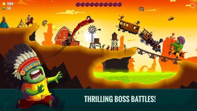 Dragon Hills 2 - walka z bossem (screen z gry)