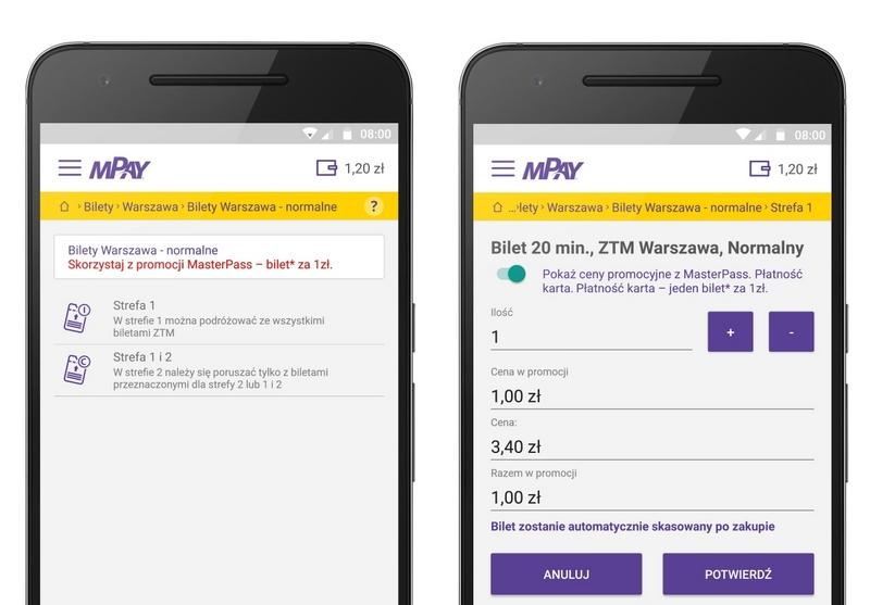 mPay - zakup biletu za 1 zł przez aplikację mobilną