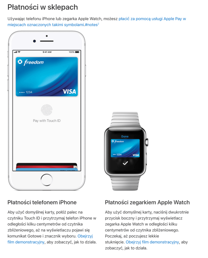 Płatności Apple Pay (za pomoca iPhone'a i Apple Watcha ) w sklepach - polska instrukcja