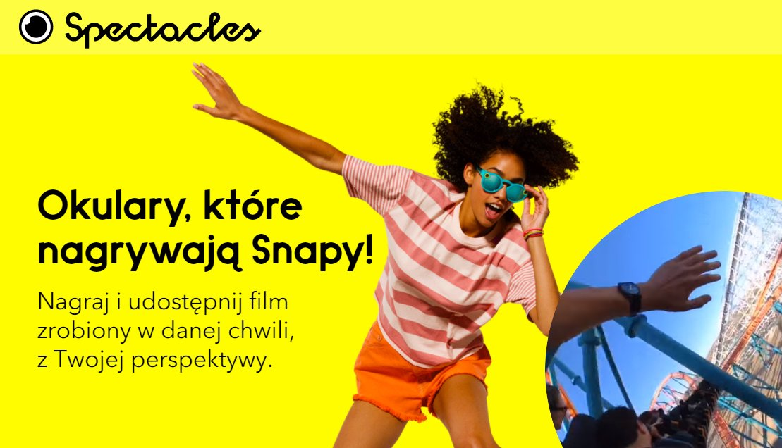 Okulary Spectacles od Snapchata dostępne w Polsce