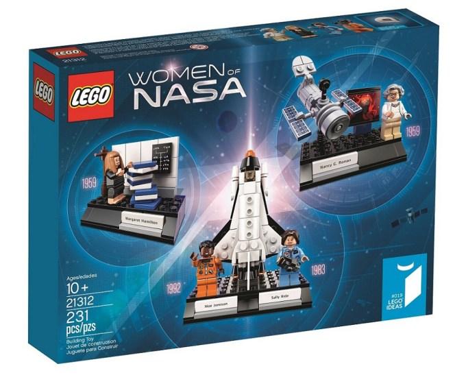 Pudełko klocków LEGO z zestawu Women of NASA