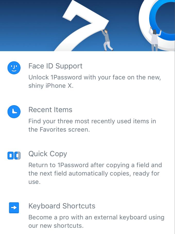 Nowe funkcje w aplikacji 1Password 7.0