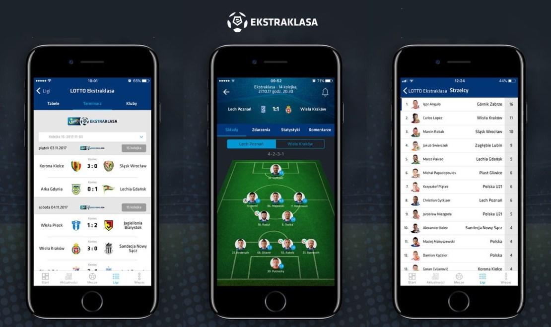Aplikacja mobilna Ekstraklasa. Bliżej gry.