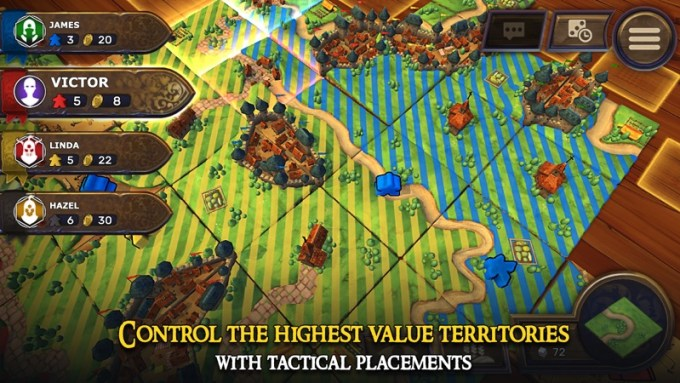 Screen z gry: Carcassonne – Tiles & Tactics