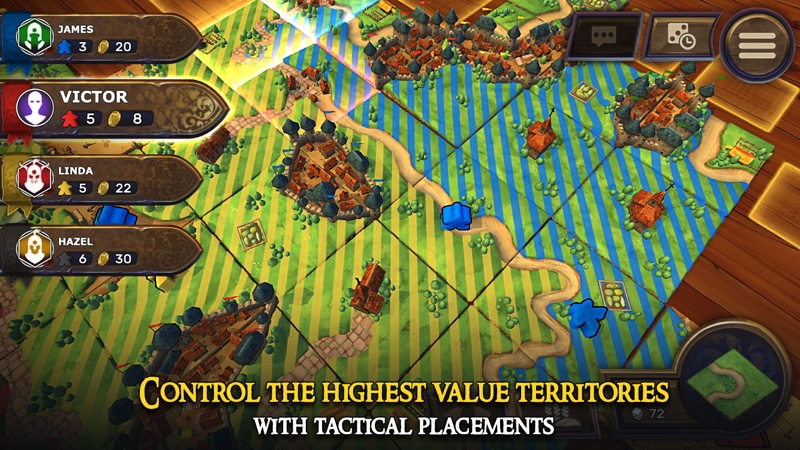 Screen z gry: Carcassonne – Tiles & Tactics