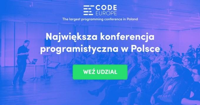 Konferencja Code Europe 2017