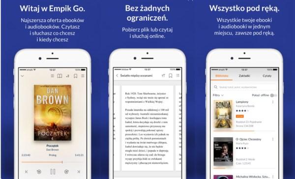 EmpikGo to zarazem czytnik e-booków i player audiobooków