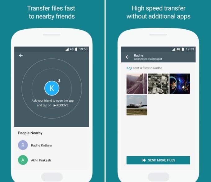 Transfer plików za pomocą aplikacji Files Go