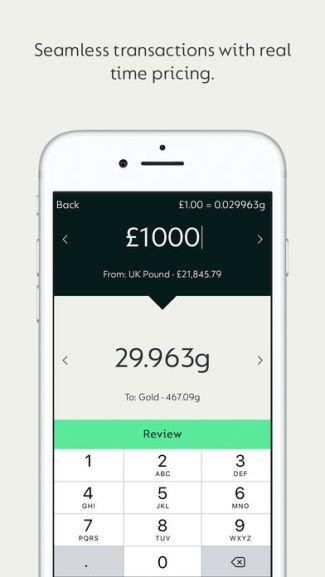 Screen aplikacji mobilnej Glint