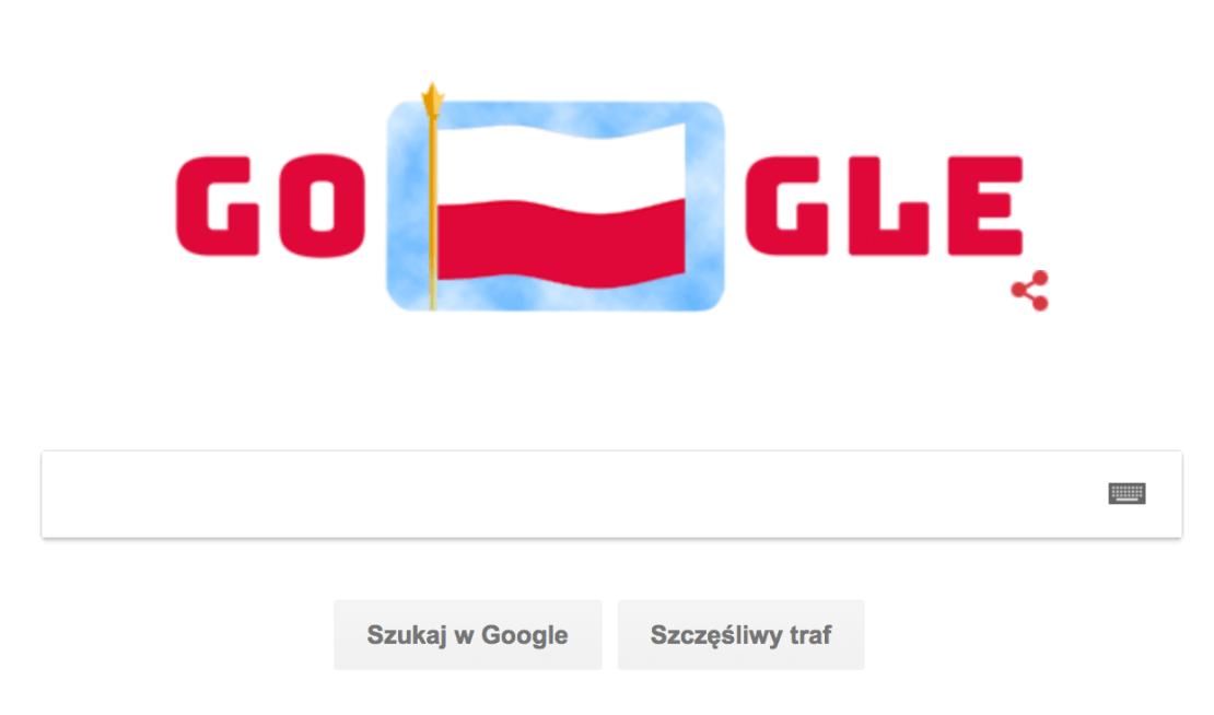 Google Doodle z okazji Narodowego Święta Niepodległości (11 listopada)
