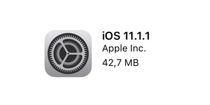 Uaktualnienie systemu iOS 11.1.1