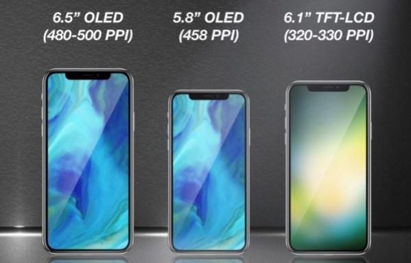 Trzy nowe pełnoekranowe iPhone'y w przyszłym roku?