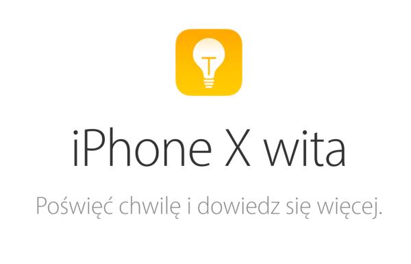 Porady dotyczące nowych funkcji iPhone'a X