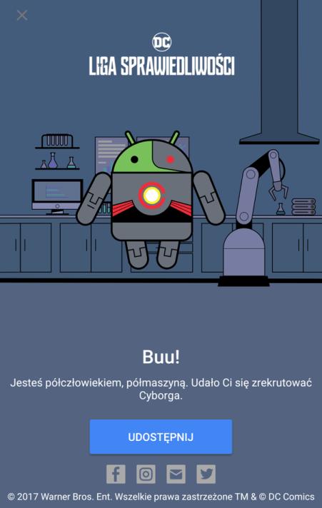 Cyborg - Liga Sprawiedliwości Android Pay