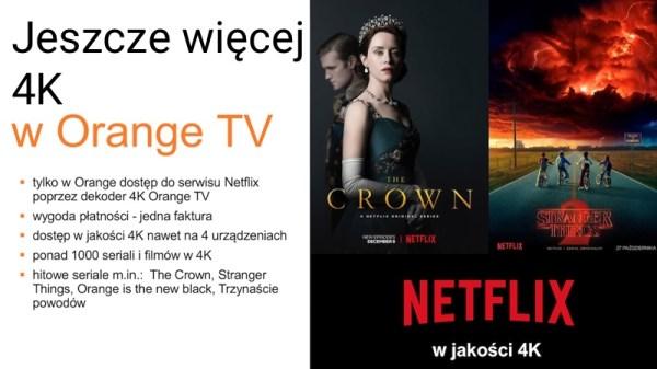 Netflix oraz kanał Eleven w jakości 4K w Orange TV