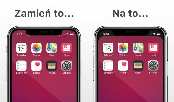 Aplikacja Notcho pozwala ukryć wycięcie iPhone'a X