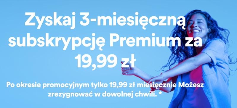 Oferta Spotify Premium dla obecnych użytkowników