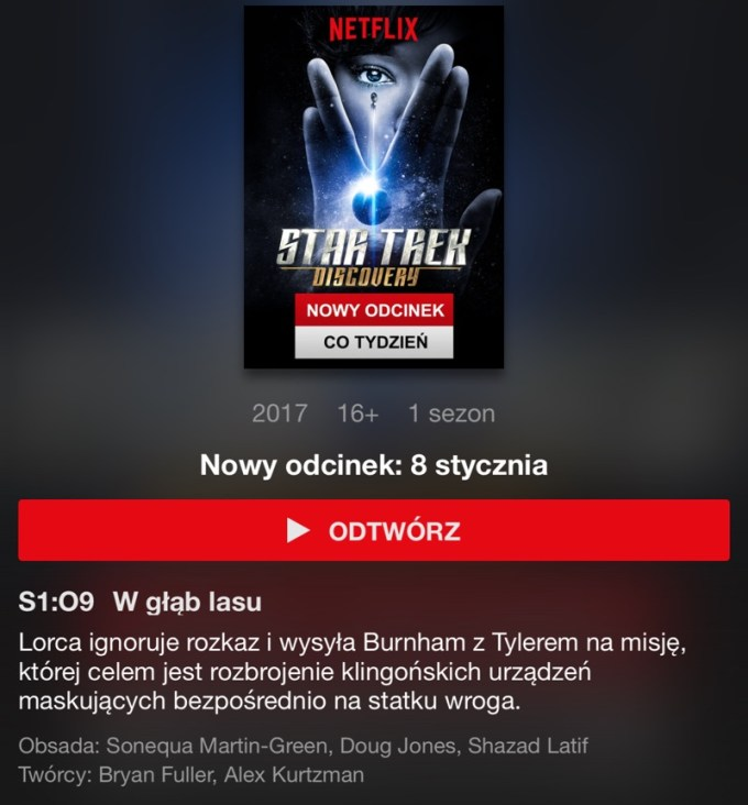 Star Trek: Discovery s01e09 (Netflix)