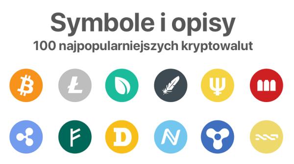 Lista 100 kryptowalut z symbolami i krótkimi opisami
