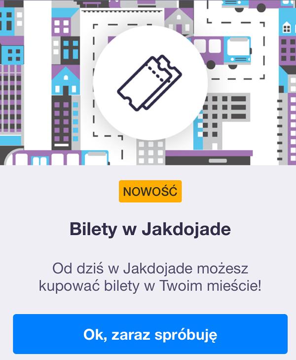 Bilety w aplikacji Jakdojade (Warszawa)