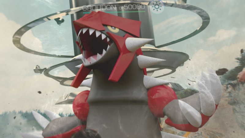 Groudon - screen z gry Pokemon GO
