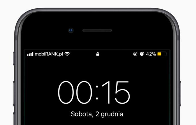 """Błąd """"2 grudnia 00:15"""" iOS 11.1.2"""