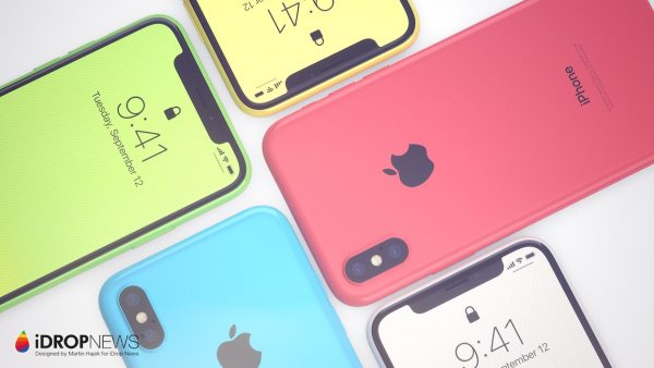 Koncepcja telefonu iPhone Xc, tańszej wersji iPhone'a X