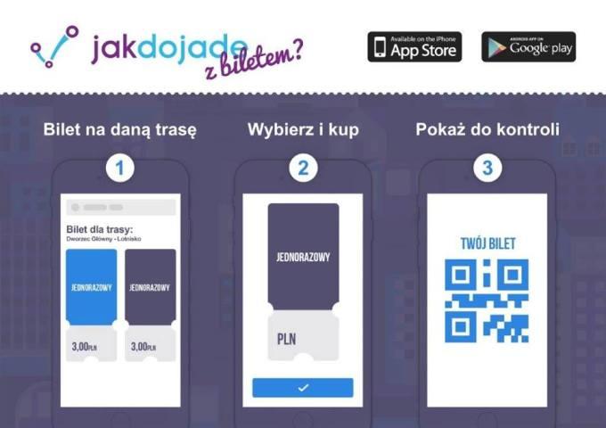 Kupowanie biletów w aplikacji mobilnej Jakdojade