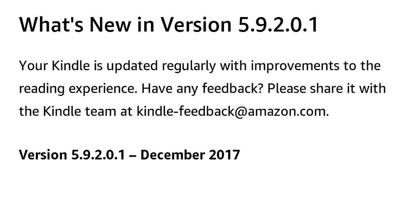 Kindle Firmware update 5.9.2.0.1