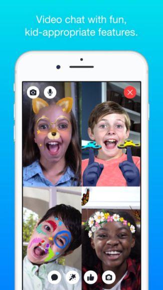 Messenger Kids (screen aplikacji na iOS)