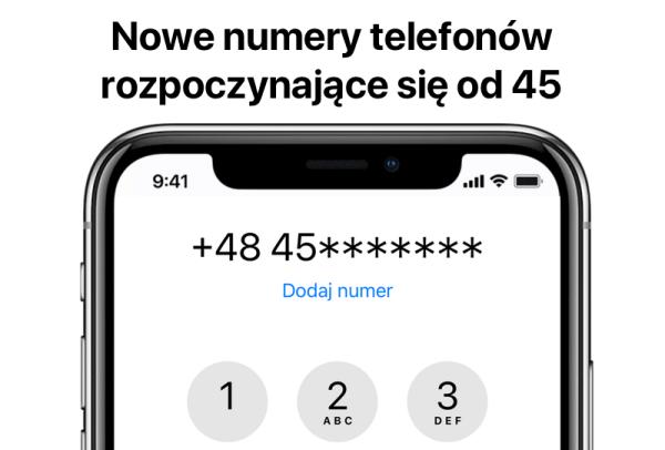 """Operatorzy będą wydawali numery tel. zaczynające się od """"45"""""""