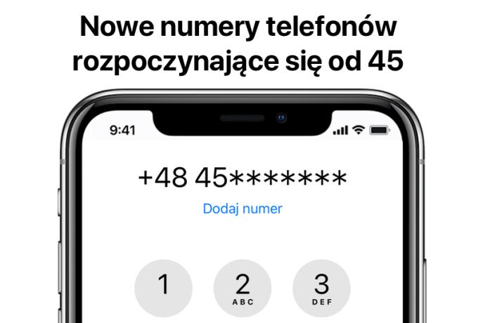 Nowe numery tel, zaczynające się od 45 u polskich operatorów