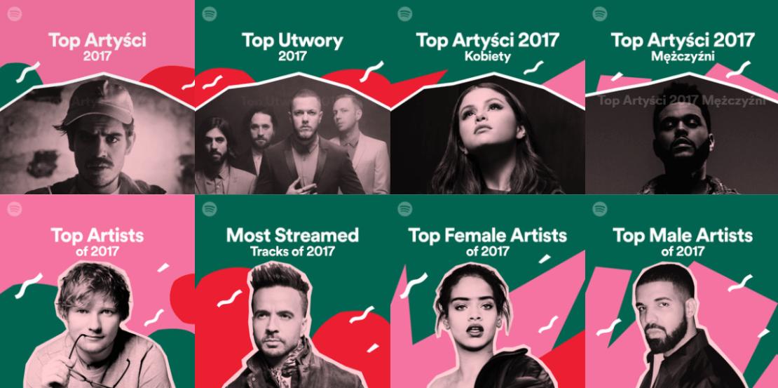 Podsumowanie roku 2017 e Spotify