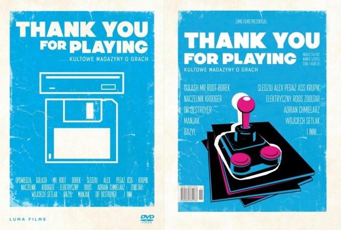 Thank you for playing: Kultowe magazyny o grach - okładka filmu DVD