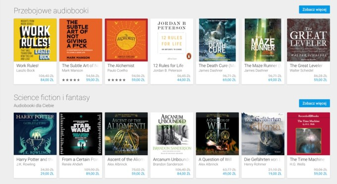 Screen Audiobooków ze sklepu Google Play (PL)