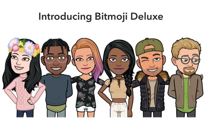 Bitmoji Deluxe na Snapchacie