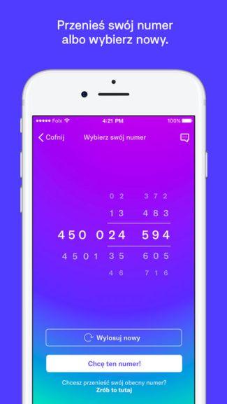 Screen aplikacji mobilnej Folx