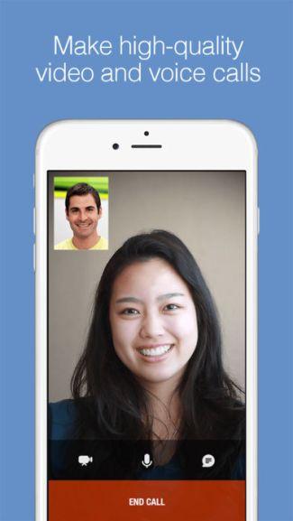 Screen aplikacji Imo (iOS) - rozmowy wideo