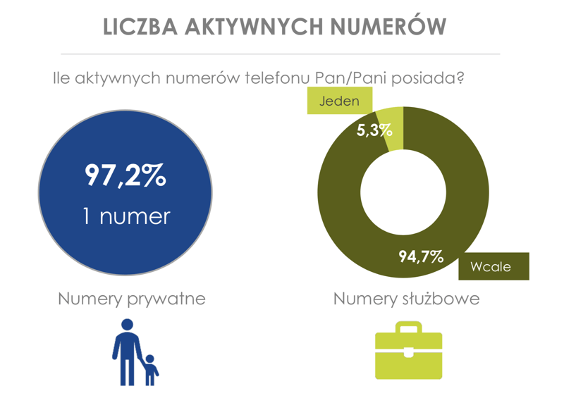 Liczba aktywnych numerów telefonów w Polsce na osobę (2017)