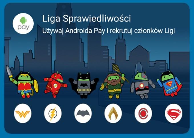 Liga Sprawiedliwości - aplikacja Android Pay