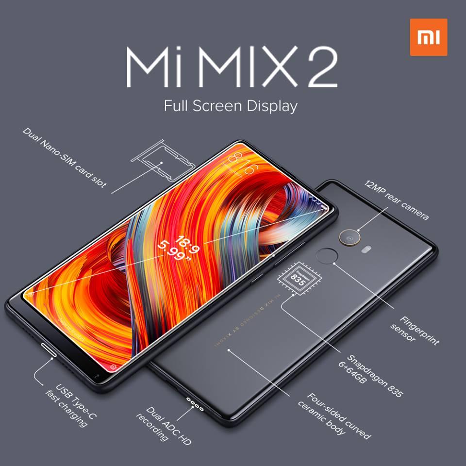 Mi Mix 2 - full screen display