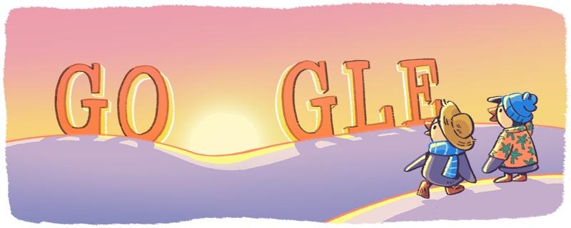 Google Doodle - Nowy Rok 2018