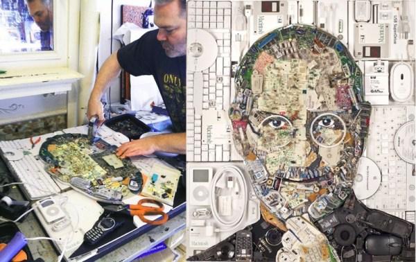Możesz kupić portret Steve'a Jobsa wykonany z e-odpadów