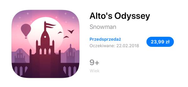 Alto's Odyssey pojawi się na iOS-a już 22 lutego
