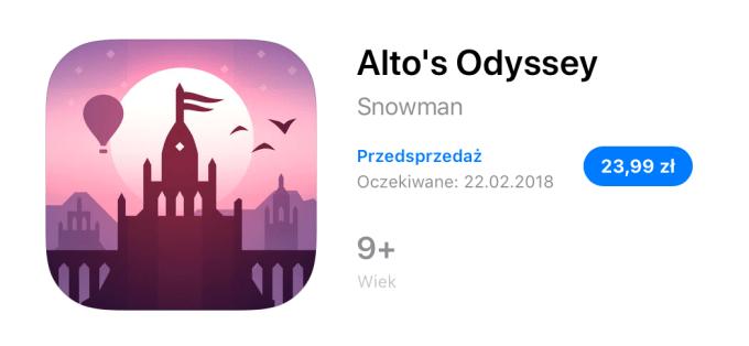 Alto's Odyssey (App Store Preorder)