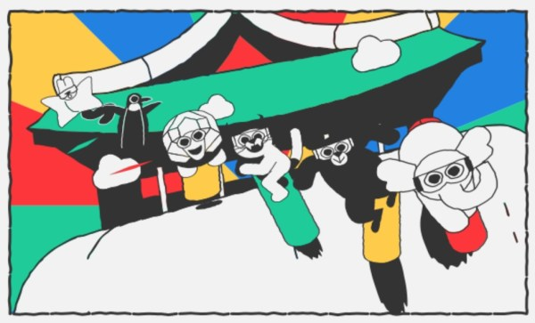Zimowe gry doodle'owe w wyszukiwarce Google